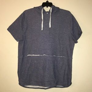 Mossimo,men's blue/white hooded shirt.size XL.